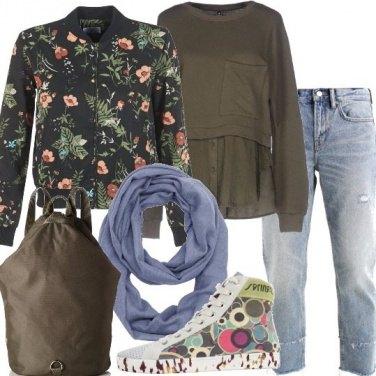 Outfit Fiori e geometrie