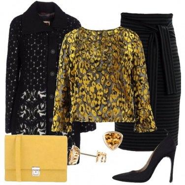Outfit Mix giallo e nero