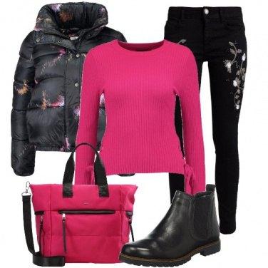Outfit Colori accesi e fiori