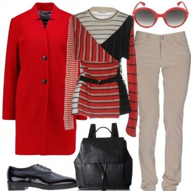 Outfit Cappotto rosso