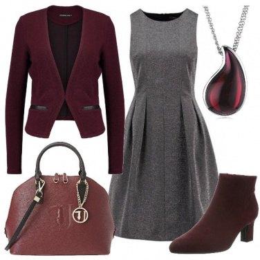 Outfit Gocce di bordeaux