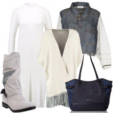 Outfit Mantella con le frange