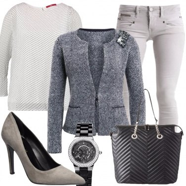 Outfit Microfantasia in grigio