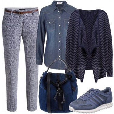 Outfit Mix in blu