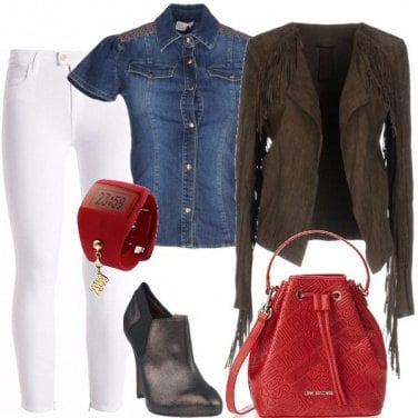 Outfit Giacca con le frange