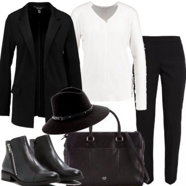 Outfit Mannish con cappello
