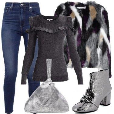 Outfit Borsa argentata