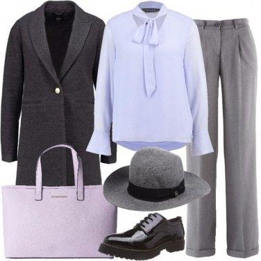 Outfit Lilla e grigio