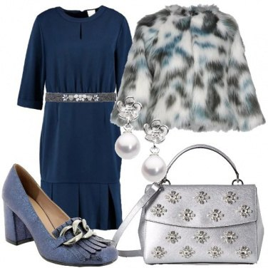 Outfit Argento nel blu