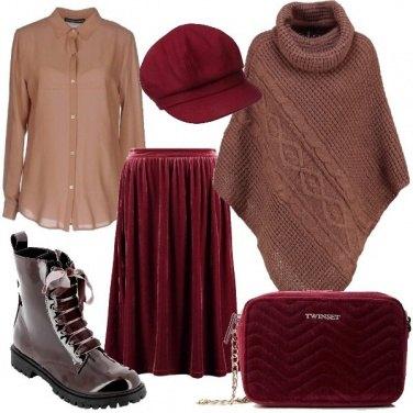 Outfit Velluto e seta