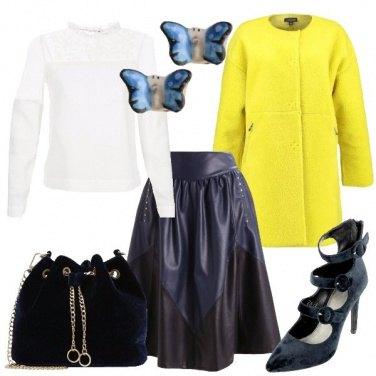 Outfit Particolare in giallo e blu