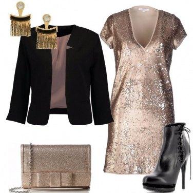 Outfit In nero ed oro