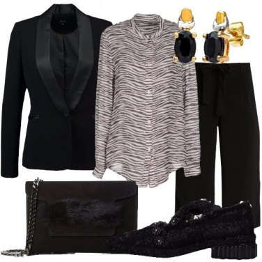 Outfit Camicia zebrata