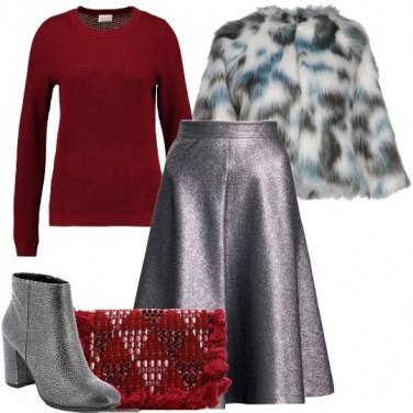 Outfit Stivaletto argentato