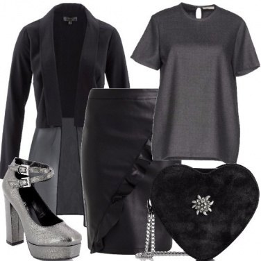 Outfit Cuore argento