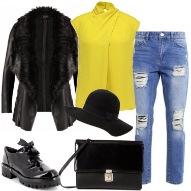 Outfit Il top giallo