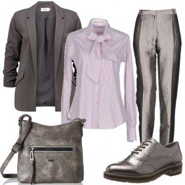 Outfit I pantaloni lucidi