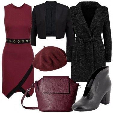 Outfit Il tubino bordeaux