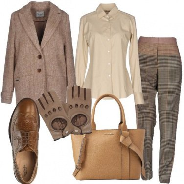 Outfit I guanti in pelle