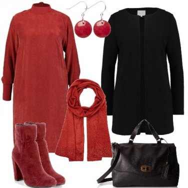Outfit Stivaletti rossi