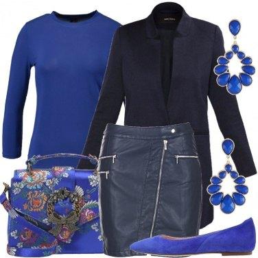Outfit Blu cobalto