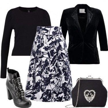 Outfit Fantasia in bianco e nero