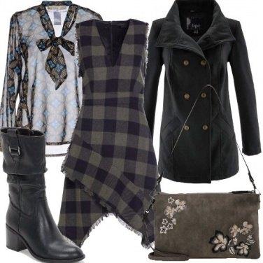 Outfit Asimmetrie e fiocchi bon ton