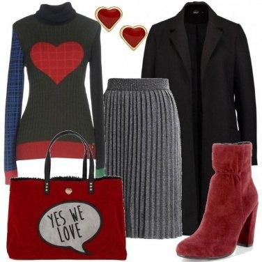 Outfit Il dolcevita con il cuore