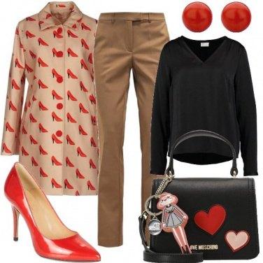 Outfit Décolleté rosse