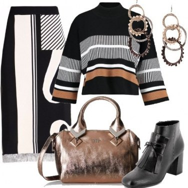 Outfit Maglie e fantasie geometriche