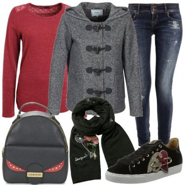 Outfit Zainetto e sneakers