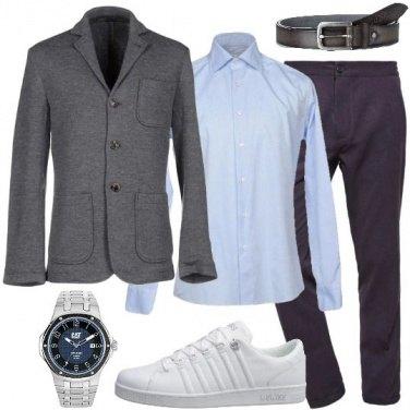 Uomo Per I Outfit Sneakers Bianche Tutti Giacca E Casual Giorni wxYAqRIO
