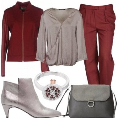 Outfit Pantalone maschile rosso