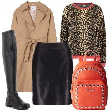 Outfit Maculato e arancione