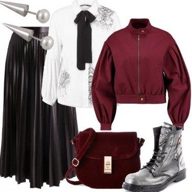 Outfit Rigoroso rock romantico