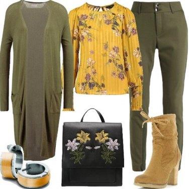 Outfit Colori autunnali e fiori