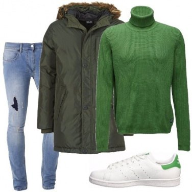 Outfit Lupetto verde