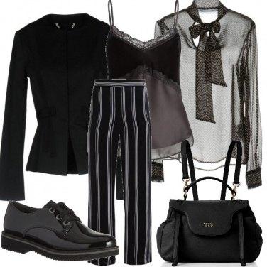 Outfit Righe e fiocchi