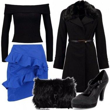 Outfit La gonna blu elettrico