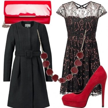 Outfit Red & black uguale passione