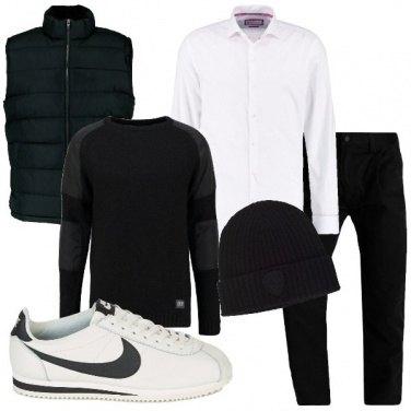 Outfit Sportivo in nero e bianco