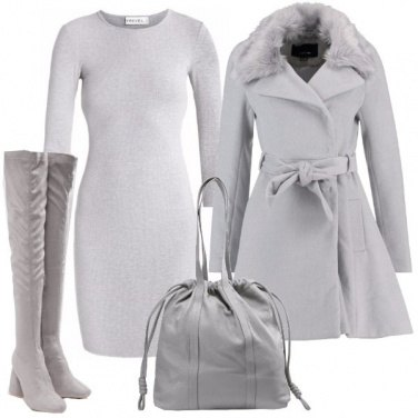 Outfit Raffinata in grigio