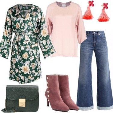 Outfit Kimono floreale
