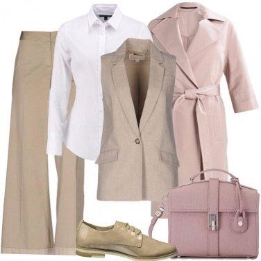 Outfit Colori tenui in stile mannish