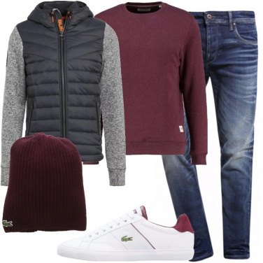 Outfit Sneakers e cappello firmati