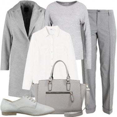 Outfit Mannish in grigio