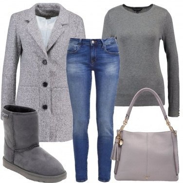 Outfit Stivaletti grigi