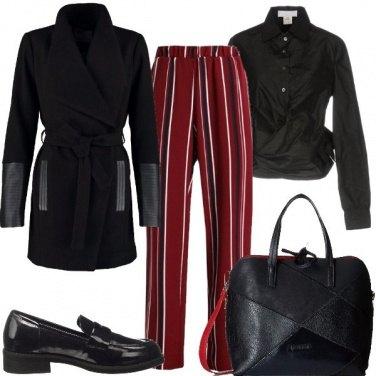 Outfit Spezzo con le righe