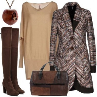 Outfit Caloroso marrone