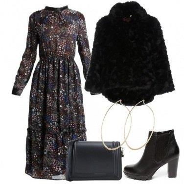 Outfit L\'abito lungo floreale